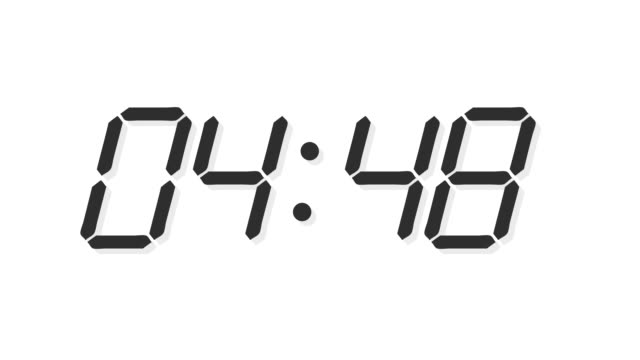 Digital clock count time lapse