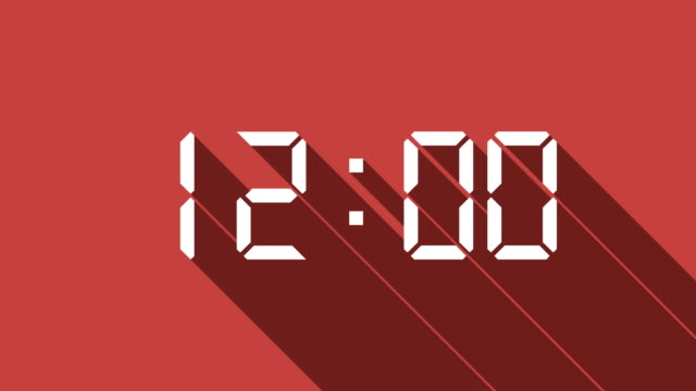 digital clock count with long shadow - 20 24 years stock videos & royalty-free footage
