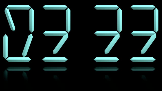 digital clock loopable transform numbers - changing clock stock videos and b-roll footage