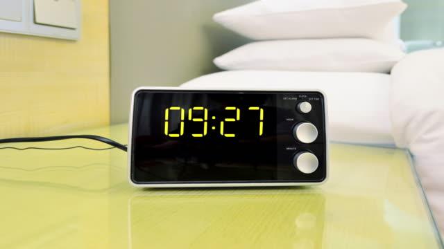 digital clock timing 00:00~12:00 (time-lapse) - digital clock stock videos & royalty-free footage