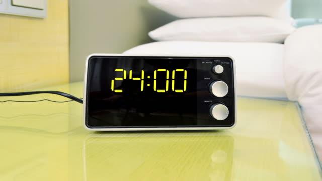 digital clock timing 00:00~24:00 (time-lapse) - digital clock stock videos & royalty-free footage