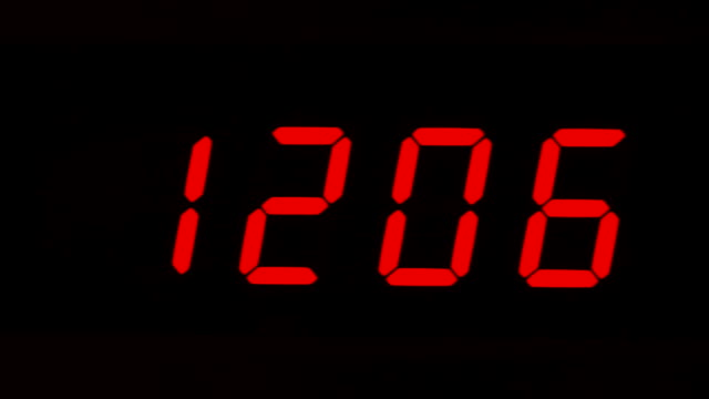 digital clock - digital clock stock videos & royalty-free footage