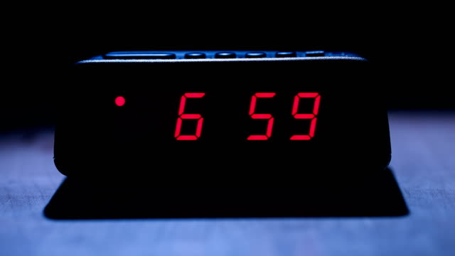 digital clock - continuity stock videos and b-roll footage