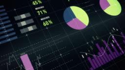 Digital composite of financial charts 4k