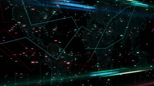 金融グローバル チャート 4 k のデジタル合成。 - big data点の映像素材/bロール
