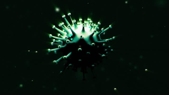 3d digital coronavirus flickering - biomedical animation stock videos & royalty-free footage