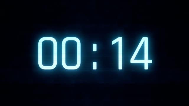 digital countdown   4k - digital clock stock videos & royalty-free footage