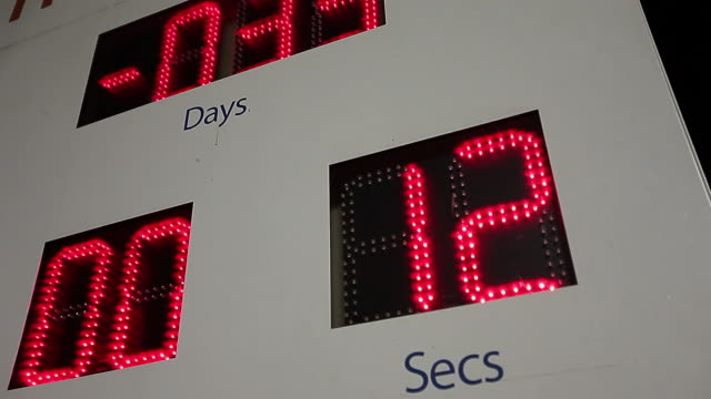 digital countdown on a big board - head back stock videos & royalty-free footage