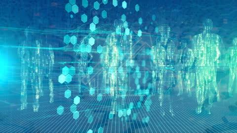 デジタル暗号通貨の抽象的背景 - 分散点の映像素材/bロール