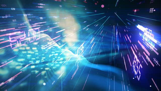 vídeos y material grabado en eventos de stock de fondo abstracto de criptomoneda digital - mercado bursátil