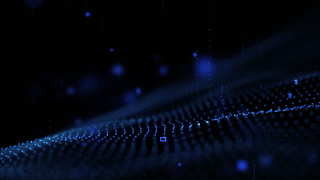 digital cyber space futuristic and business background,blue color