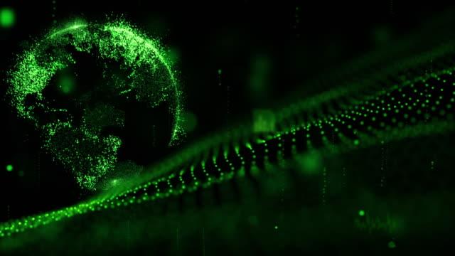 digitalen Cyber Space futuristisch, grüne Hintergrundfarbe