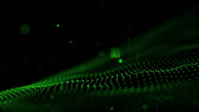 digitala cyber rymden futuristiska bakgrunden, grön färg