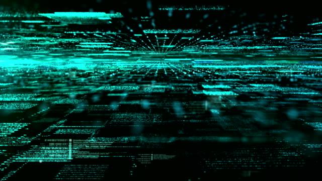 Digitalen Cyber-Raum-Partikel
