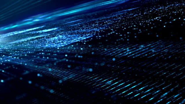 digital cyber space particles - data stock videos & royalty-free footage