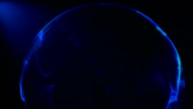 デジタル サイバー ウイルス球 - らせん点の映像素材/bロール