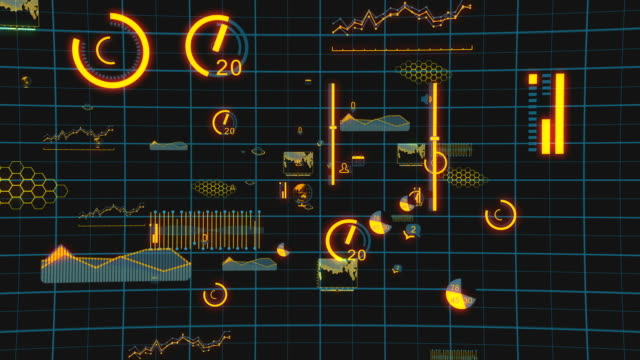 digital data charts internet - medium group of objects stock videos and b-roll footage