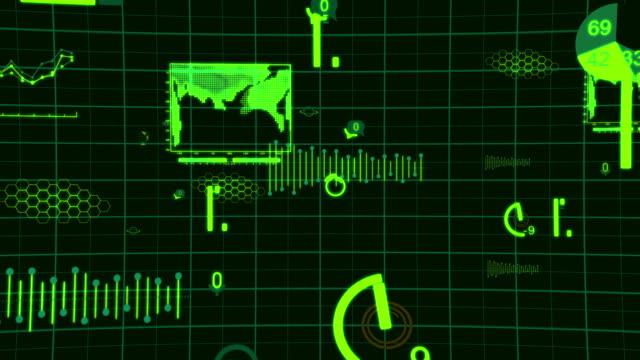 vídeos de stock, filmes e b-roll de dados gráficos internet digital - www