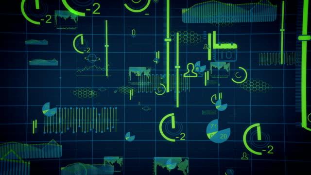 digital data charts internet - installing stock videos & royalty-free footage