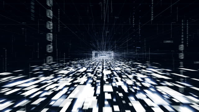 Digital Data travelling.