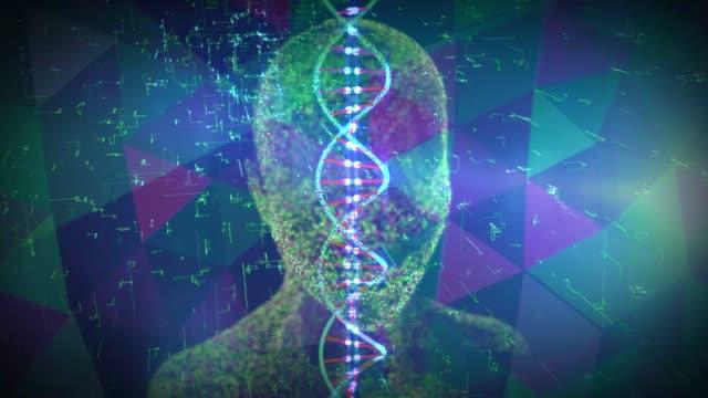 vídeos de stock e filmes b-roll de digital dna - modificação genética