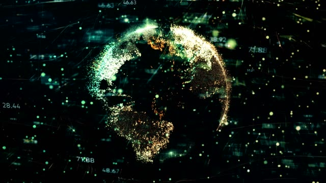 digital earth technology - global economy stock videos & royalty-free footage
