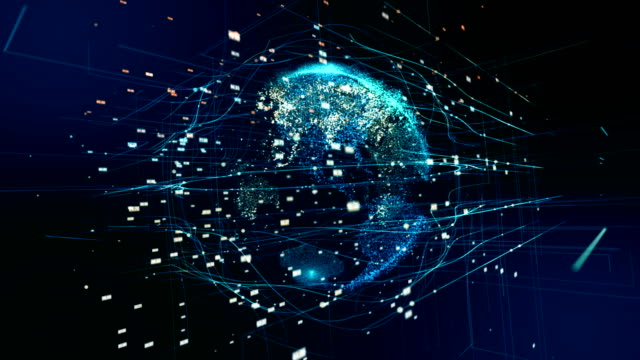 digital earth - world map stock videos & royalty-free footage