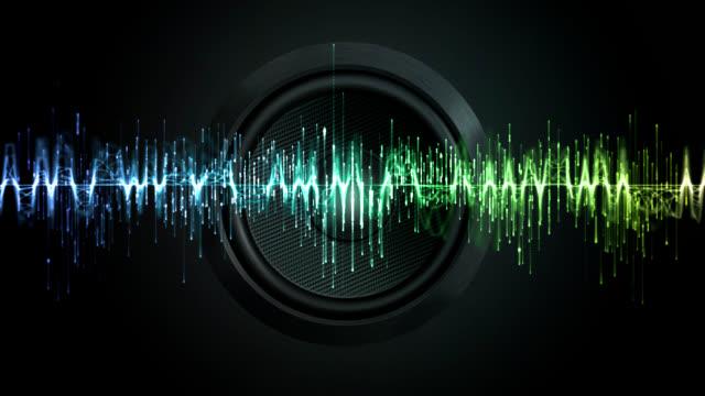 vídeos de stock e filmes b-roll de equalizador digital - onda sonora