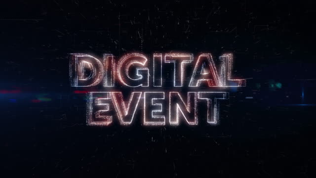 digital event words animation - event stock videos & royalty-free footage