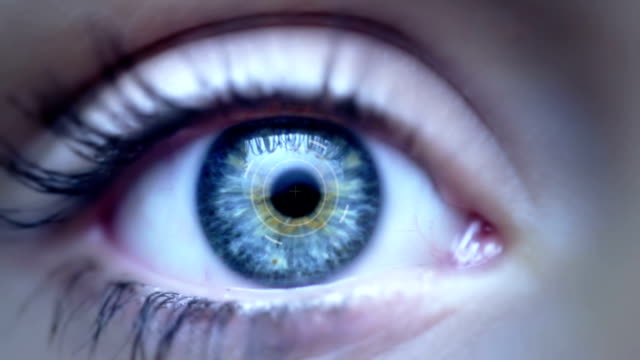 digital eye + alpha - eyelid stock videos & royalty-free footage