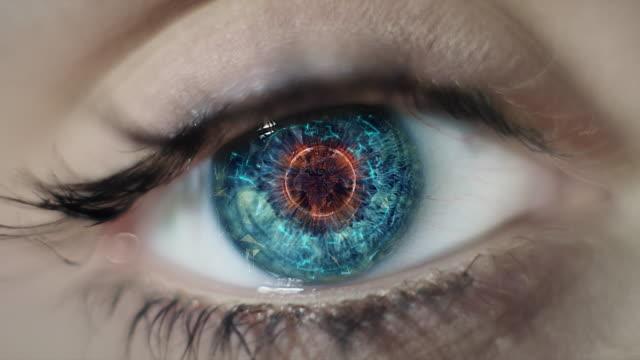 Digital Auge. Nahaufnahme-up