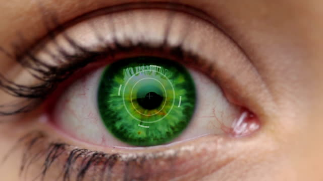 digital eye green + alpha - digital composite stock videos & royalty-free footage