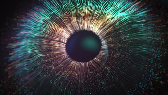 digital eye iris connections, abstract iris explosion background - imagination stock videos & royalty-free footage
