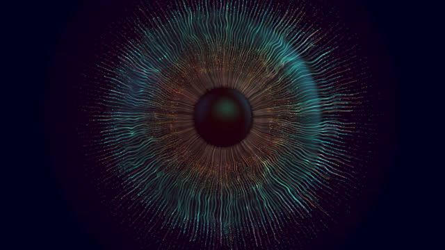 digital eye iris connections, abstract iris explosion background - spectrum stock videos & royalty-free footage