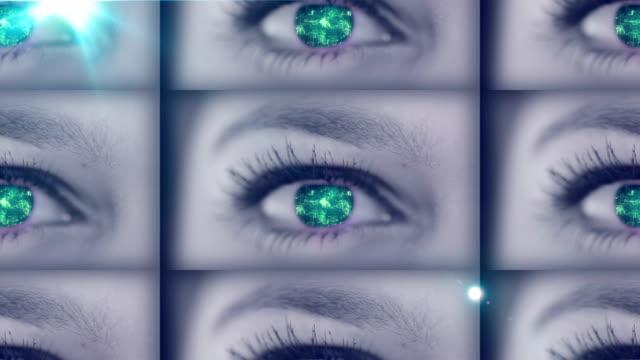 digital auge - human cell stock-videos und b-roll-filmmaterial
