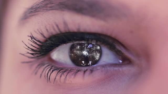 digital eye - closing stock videos and b-roll footage