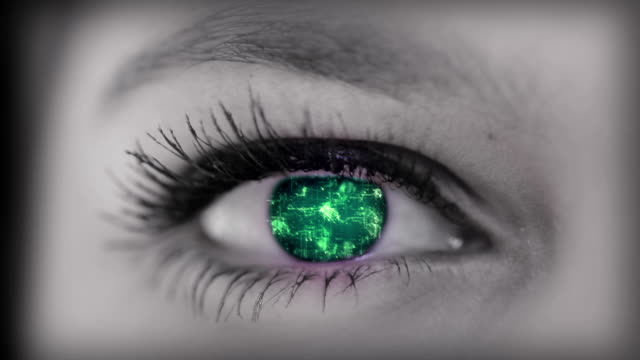 digital eye - extreme close up stock videos & royalty-free footage