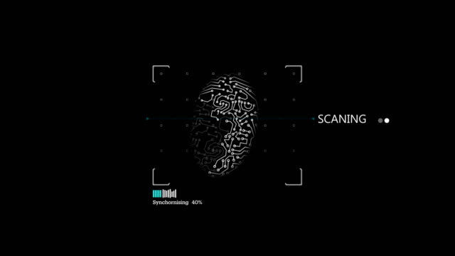 digital finger print machine - security code stock videos and b-roll footage