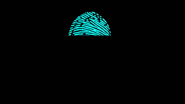 4k digital fingerprint scanning animation - identity stock videos & royalty-free footage