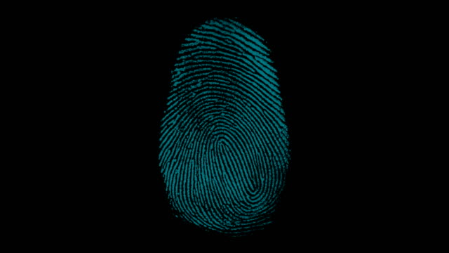 4k digital fingerprint scanning with match point - identity stock videos & royalty-free footage