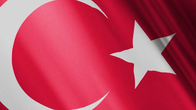 digital generierter realistischer textureffekt schwenkt türkische flagge - türkischer premierminister stock-videos und b-roll-filmmaterial