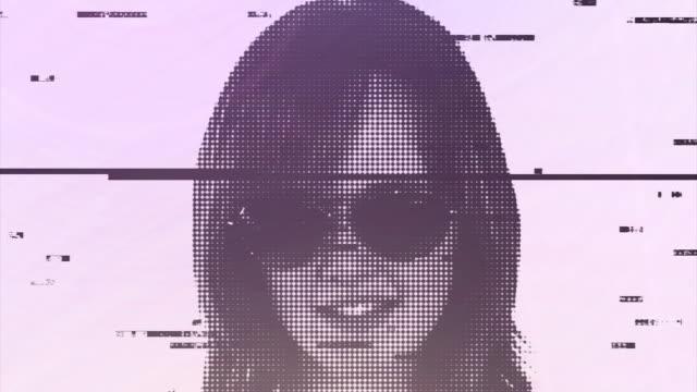 digital girl static - sunny stock videos & royalty-free footage