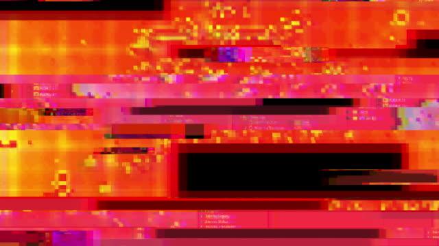 vídeos y material grabado en eventos de stock de efecto de superposición de fallos digitales - luces estroboscópicas
