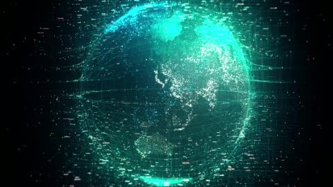 vídeos y material grabado en eventos de stock de digital globe, tecnología de red - imagen generada digitalmente