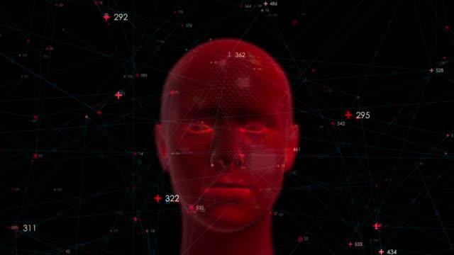 digitalt huvud med noder - cerebellum bildbanksvideor och videomaterial från bakom kulisserna