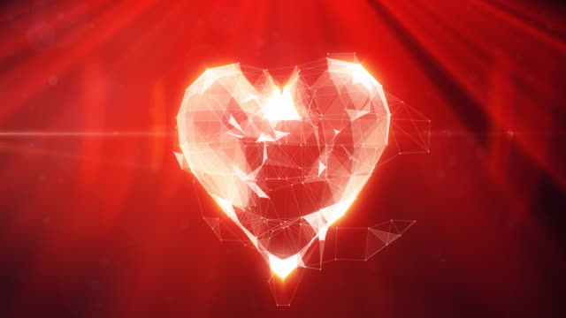 digital heart animation | 4k - month stock videos & royalty-free footage