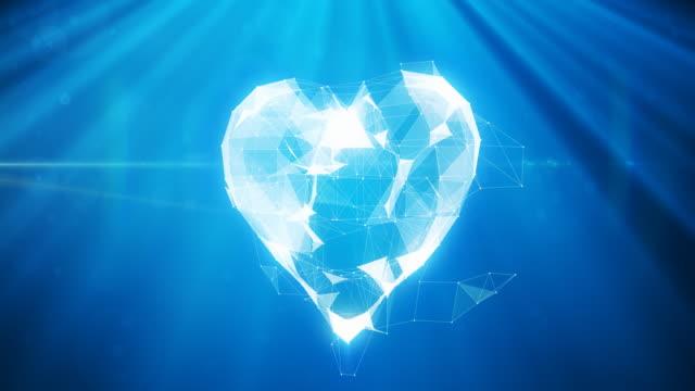 vídeos y material grabado en eventos de stock de animación digital corazón/4 k - tarjeta del día de san valentín