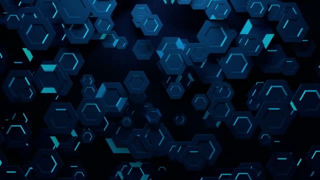 digital hexagon abstract background - logo stock videos and b-roll footage