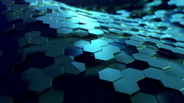 digital hexagon abstract background - hexagon stock videos and b-roll footage