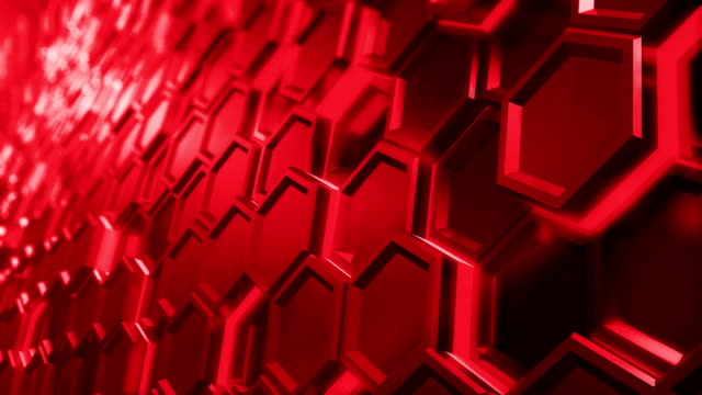 Digital hexagon abstract background